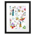 Kids Artwork Frame – 11×14 Inch Black Picture Frame – Made to Display Pictures 8×10 with Mat or 11×14 Without Mat – Plexiglas Front for Additional Protection