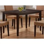 Coaster Hyde Rectangular Casual Dining Leg Table in Cappuccino (Table Only)
