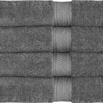 700 GSM Premium Towels Set 4 Pack – Cotton for Hotel & Spa Maximum Softness and Absorbency by Utopia Towels (4 Bath Towels) (grey)