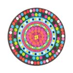 French Bull – Melamine Serving Platter – 15-1/2-Inch Round Serving Tray – for Indoor and Outdoor Entertaining – Bindi