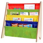 Naomi Home Kids Toy Sling Book Rack, Primary Colors/Natural