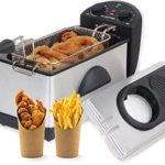 Gourmia GDF300 Electric Restaurant Deep Fryer With Dual Temperature and Timer Dials – 3 Quart – Stainless Steel – 1500 Watts – Fry 2 1/2 lbs. of Food – Includes E-Recipe Book – 110/120V