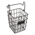 Modular Black Metal Mesh Wire Hanging Kitchen & Dining Utensils Storage Basket / Bathroom Toiletries Holder Basket