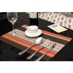 PAUWER Washable Placemats Set of 6 Heat Resistant Placemats for Kitchen Dining Table Non-slip Woven Vinyl Table Mats Placemats Easy to Clean
