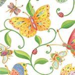 Entertaining with Caspari Parvaneh's Garden Paper Guest Towels, 15-Pack
