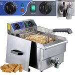 Commercial Professional Electric 10L Deep Fryer Timer and Drain Stainless Steel French Fry Restaurant Kitchen by Yescom
