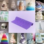 Silicone Fondant Chocolate Cakes Tool Lace Baking Mold DIY Kitchen Accessories Purple Cake Decoration Tools