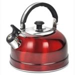 Topro 2.5L Camping Narrow Boat Whistling Kettle Home Hob Gas Electric Induction Color Red