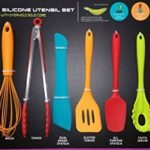Core Kitchen – 10 Piece Silicone Utensil Set in Assorted Colors with Overmold Solid Core