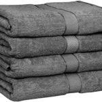 Utopia Towels 30×56 Inches Luxury Cotton Bath Towels, 4 Pack, Dark Grey