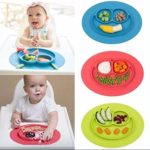 JD Million shop 1Pcs Mini Size Smile Baby Rice Plate Food Grade Silicone Placemats Kids Suction to Dining Table Kitchen Dinnerware