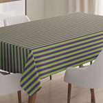 Pop Art Decor Tablecloth by Ambesonne, Vintage Retro 50s 60s Style Bold Stripes Rooms Wallpaper Image, Dining Room Kitchen Rectangular Table Cover, 52 W X 70 L Inches, Royal Blue and Lime Green