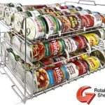 MagicCanRack Unique 2017 Patent Pending Double Function Stackable Can Organizer Pantry Can Rack System, Holds More Than 50 Cans, Standard And Rotator Shelves