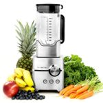 Vremi Professional Kitchen Blender – Powerful 1400 Watt Commercial Heavy Duty Smoothie Blender with Large 8 Cup Pitcher – 4 Blade Electric High Speed Stainless Steel Pro Immersion Ice Crusher – Silver