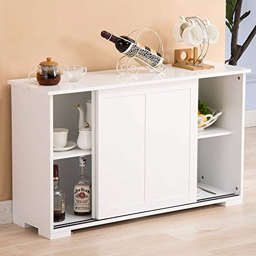 White Kitchen Buffet: Mecor Sideboards And Storage Cabinet, White Kitchen Buffet