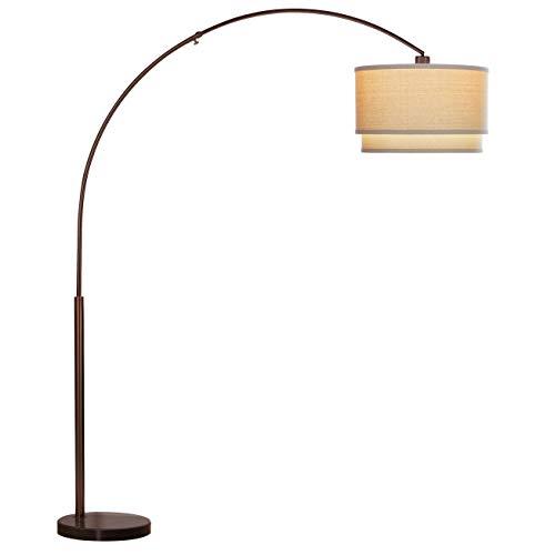 Brightech Mason Led Arc Floor Lamp With Marble Base Living Room Pole Lighting Modern Tall